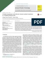 Granular Temperature With Discrete Element Method Simulation