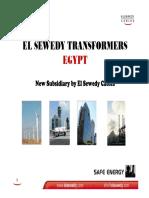 El Sewedy Transformers ( Hatem Tantawy ) Presentation10 & 18 Jan 09