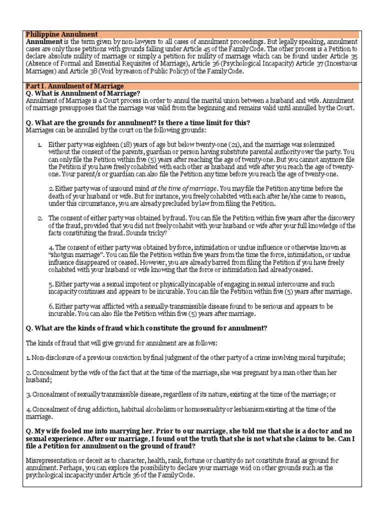 Philippine Annulment | Annulment | Marriage