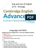 Cae Reading and Use of English Part 6