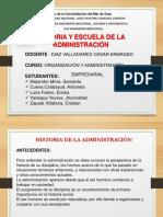 Historia y Escuelas de La Administracion Ultimo