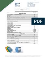 G2 Classroom Supplies List 2017-2018