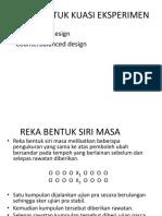 Time Series Design & Counterbalanced Design