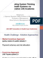 Accelerating System Thinking in Health Systems