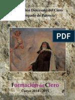 Formacion Permanente Del Clero y Retiros 2014 2015 Diocesis de Palencia