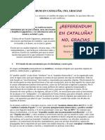 REFERENDUM EN CATALUÑA, !NO, GRACIAS!