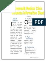 Riverwalk Medical Clinic Influenza Information Sheet