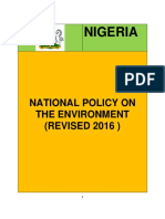 Revised National Policy on the Environment Final Draft