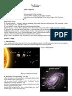 Earth Sci Lesson 1