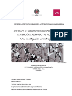 Arteterapia en Un IES Investigacion Autoetnografica
