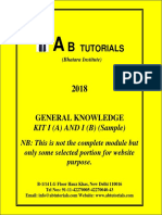 General Knowledge for CLAT 2018