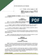 Lei Nº 2.344-15 - PDF - Novo Código de Obras de Itabuna