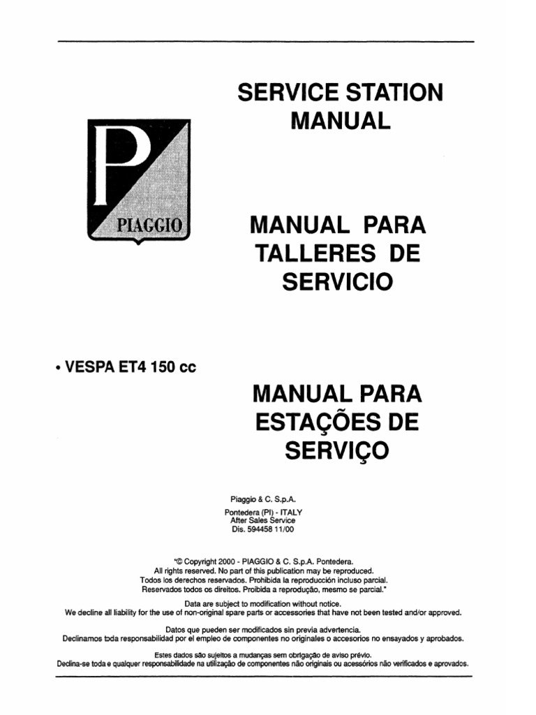 manual taller et4 125 150 pdf Vespatronic Wiring-Diagram  Kymco Agility 50 Wiring Diagram Scooters Piaggio Fly 150 Wiring Diagram Schematic Scooter Wiring Schematic