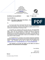 Comments on Functional Specifications of Smart Meters From CEA
