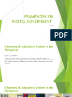 Policy Framework on Digital Government