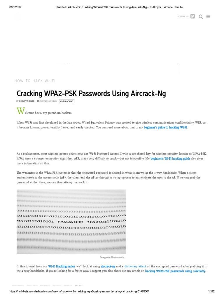 hack wifi using aircrack-ng