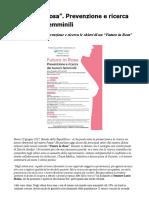 """Prevenzione Tumori Femminili e Ricerca Le Chiavi Di Un """"Futuro in Rosa"""""""