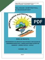 Mejoramiento Del Servicio de Agua Potable e Instalacion Del Saneamiento Basico en El Caserio Nuevo Belen, Distrito de Manantay - Coronel Portillo - Ucayali