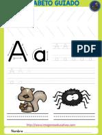 Abecedario Guiado Animales Fichas PDF 1