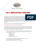 2017 Education Agenda