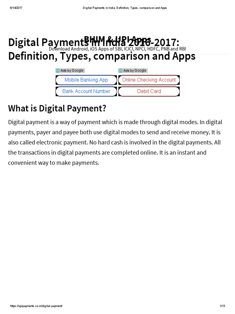 digital payments in india_ definition, types, comparison and apps