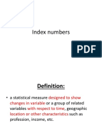 Statistics- Index Numbers