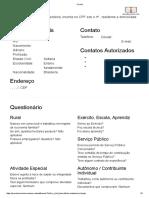 Ficha para Entrevista Previdenciaria