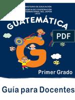 GUÍA DE MATEMÁTICAS DE PRIMER GRADO PARA EL MAESTRO