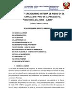 308055476 Estudio de Impacto Ambiental en Canal de Riego en El Sector Capilla Distrito de Carhuamayo