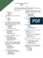 Evaluación de Ciencias Naturale 6