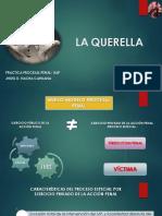 La Querella- Practica Proc. Penal