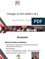ISO 14644 Parts 1 & 2 -Changes