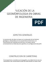 Aplicación de La Geomorfologia en Obras de Ingenieria