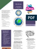 bilingual brochure