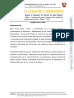 Manual Operación y Mantenimiento Sistema de Agua Potable