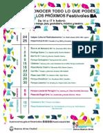 Programación - Muestra de Festivales Itinerantes