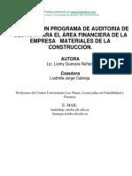 Diseno Programa Auditoria