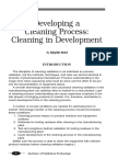 Developing a Cleaning Process Cleaning in Development_0