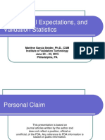 FDA, Global Expectations, And Validation Statistics