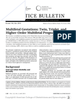 1. Multifetal Gestations Twin, Triplet, And Higher Order Multifetal Pregnancies