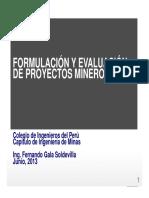 Formulación y Evaluación de Proyectos Mineros