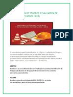 Identificación de Peligros y Evaluación de Riesgos y Su Control