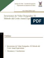Tema 8 Inversiones de Vidas Desiguales - Metodo Cae