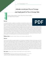 Crecimiento en Diámetro Normal Para Pinus en Durango
