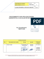 10- TMM-PH-009 Procedimiento Para Realizar Prueba Hidrostatica a Valvulas de Retencion