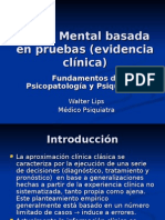 Salud Mental basada en pruebas (evidencia clínica)