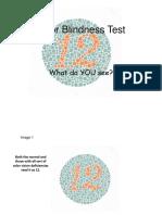 Color Blindess Test
