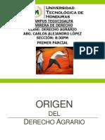Presentación Derecho Agrario Primer Parcial Abg. Carlos López