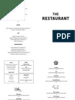 The Restaurant Lunch/Dinner menu