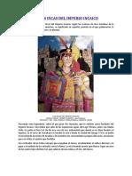 Los 14 Incas Del Imperio Incaico